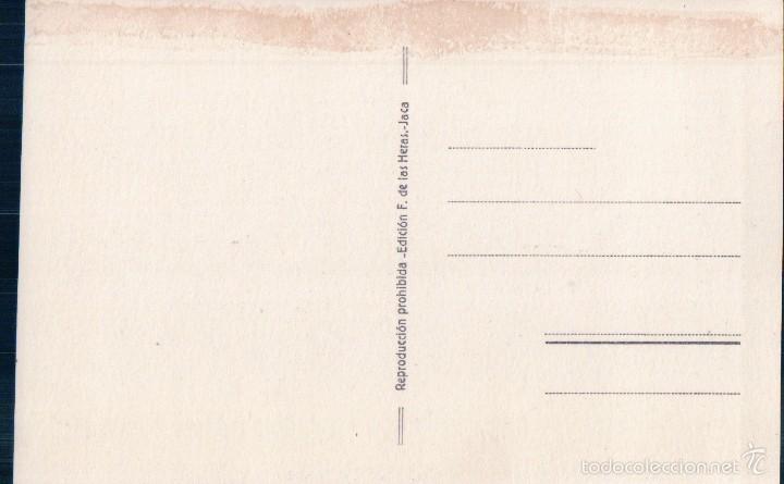 Postales: POSTAL 11 CANFRANC.- LA SAGUETA, AL FONDO, EL CAMPANAL DE YZAS. EDICION F. DE LAS HERAS - Foto 2 - 58396134