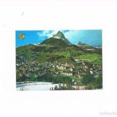 Postales: POSTAL ANTIGUA HUESCA SIN CIRCULAR ALTO ARAGON SALLENT DE GALLEGO AL FONDO PEÑA FORATATA. Lote 58870281