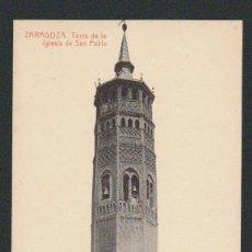 Postales: ZARAGOZA.TORRE DE LA IGLESIA DE SAN PABLO.Nº 224.ED.THOMAS.SIN CIRCULAR.. Lote 59114195