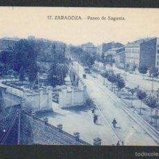 Postales: ZARAGOZA.Nº 17.PASEO DE SAGASTA.SIN CIRCULAR.. Lote 59120310