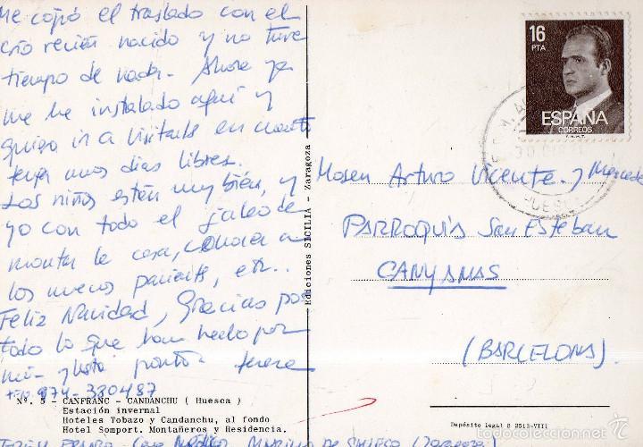 Postales: VESIV POSTAL CANFRANC CANDANCHU Nº5 HOTELES TOBAZO Y CANDACHU AL FONDO HOTEL SOMPORT MONTAÑEROS Y RE - Foto 2 - 59919487
