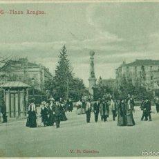 Postales: ZARAGOZA. BURGOS. PLAZA DE ARAGON. CARTOFILIA. ERROR DE IDENTIFICACIÓN. HACIA 1905. V. B. CUMBO.. Lote 60732215