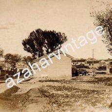 Postales: POSTAL FOTOGRAFICA DE TAUSTE, ZARAGOZA, UNA DE LAS ENTRADAS AL PUEBLO, AÑOS 20, RARISIMA. Lote 61059263