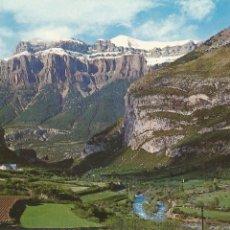 Postales: TORLA (HUESCA), PANORÁMICA, AL FONDO MONDARRUEGO Y CAMPING DE ORDESA - ED. SICILIA Nº 36 . Lote 61885252