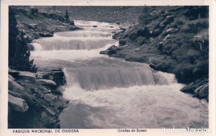 POSTAL PARQUE NACIONAL DE ORDESA.- GRADAS DE SOASO. EDIC. SICILIA (Postales - España - Aragón Antigua (hasta 1939))