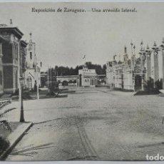 Postales: POSTAL - EXPOSICIÓN DE ZARAGOZA - AVENIDA LATERAL - AÑO 1908 - IMPRENTA ALEMANA. Lote 62601288