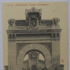 Postales: POSTAL - PORTADA DEL MATADERO - ZARAGOZA - FOTOTIPIA THOMAS. Lote 62603040