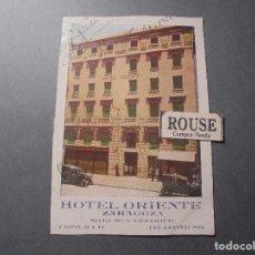 Postales: ZARAGOZA - HOTEL ORIENTE , SITIO MUY CENTRICO COSO 11 Y 13 POSTAL CIRCULADA 1924 - 14X9 CM. . Lote 63581192