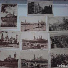 Postales: POSTAL ZARAGOZA, 10 DISTINTAS, SIN CIRCULAR, AÑOS 30,40, EDICIONES M. ARRIBAS.. Lote 63740327