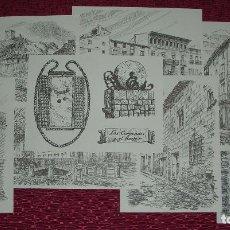 Postales: 12 POSTALES DE DAROCA, ZARAGOZA, DIBUJADAS A PLUMILLA. Lote 64095163