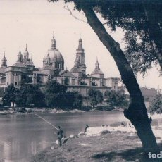 Postales: POSTAL FOTOGRAFICA ZARAGOZA, PESCANDO. Lote 64761235
