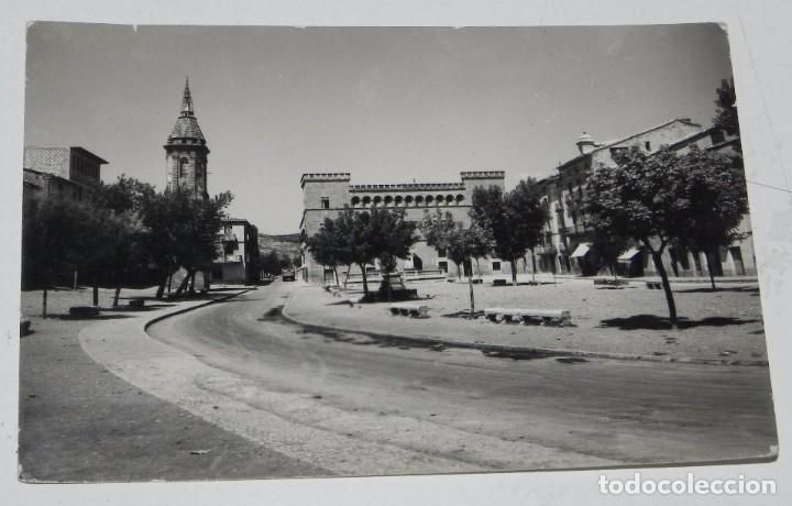 FOTO POSTAL DE AYERBE. HUESCA. PALACIO Y TORRE RELOJ. ED. SICILIA Nº 39. CIRCULADA. (Postales - España - Aragón Antigua (hasta 1939))