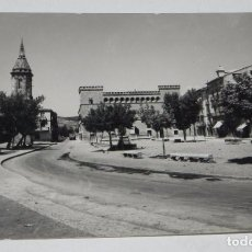 Postales: FOTO POSTAL DE AYERBE. HUESCA. PALACIO Y TORRE RELOJ. ED. SICILIA Nº 39. CIRCULADA.. Lote 65824646