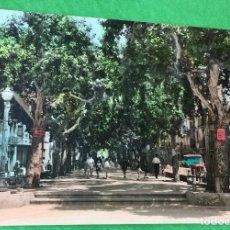 Postales: BARBASTRO - HUESCA - PASEO DEL GENERALÍSIMO - POSTAL COLOREADA - AÑOS 60. Lote 66935618