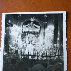 Postales: ANTIGUA FOTOGRAFÍA. ZARAGOZA. INTERIOR CATEDRAL. FOTO. . Lote 67113861