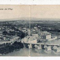 Postales: ZARAGOZA. PANORAMA DESDE LA TORRE DEL PILAR. POSTAL DOBLE.. Lote 67186973