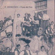 Postales: POSTAL ANTIGUA DE ZARAGOZA. TIPOS DEL PAIS.. Lote 68262097