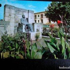 Postales: GRAUS (HUESCA). 12 MONUMENTO A D. JOAQUÍN COSTA. EDICIONES SICILIA. NUEVA CON DOS AGUJEROS DE TALADR. Lote 194916511