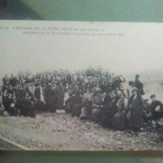 Postales: POSTAL HUESCA PANTANO DE LA PEÑA VISITA DE LAS ESCULAS NACIONALES DE ZARAGOZA Y HUESCA 23 NOV 1913. Lote 69026458