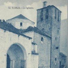 Postales: TORLA (HUESCA) LA IGLESIA. Lote 70218317
