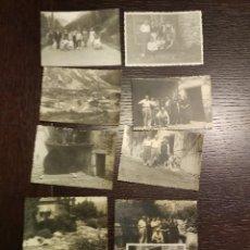 Postales: 1959 LOTE DE 34 FOTOGRAFIAS ORIGINALES DE EPOCA DE EL RUN HUESCA. Lote 71487839
