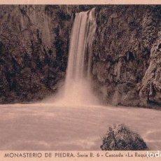 Postales: POSTAL MONASTERIO DE PIEDRA SERIE B 6 CASCADA LA REQUIJADA HUECOGRABADO MUMBRU BARCELONA. Lote 72316063