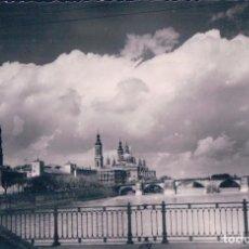 Postales: POSTAL ZARAGOZA - EL PILAR Y RIO EBRO - SICILIA 19 - CIRCULADA. Lote 72325287