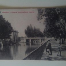 Postales: POSTAL ZARAGOZA CANAL IMPERIAL Y PLAYA DE TORRERO. Lote 72370006