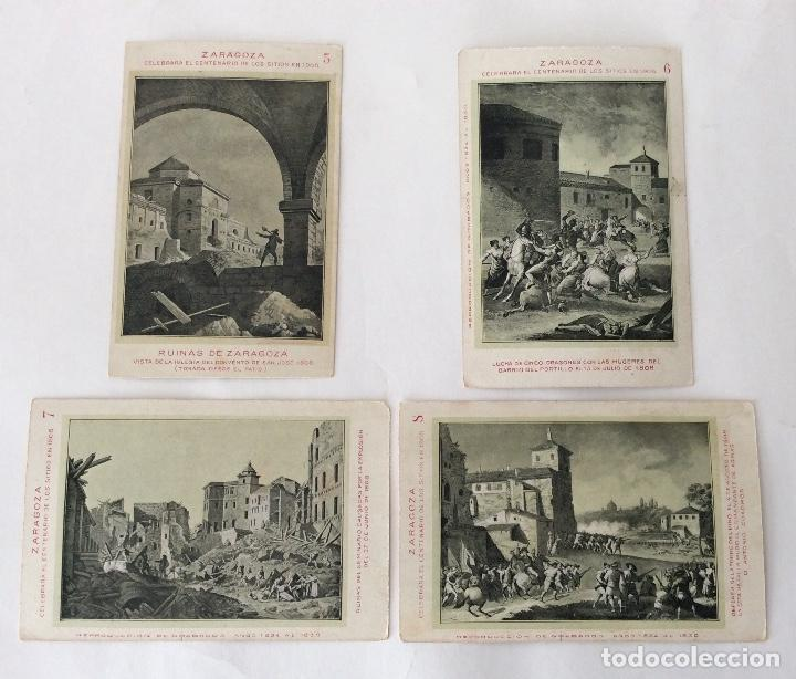 Postales: COLECCIÓN?? 24 POSTALES. CENTENARIO DE LOS SITIOS 1908. LIT. E. PORTABELLA. ZARAGOZA. - Foto 4 - 72728515