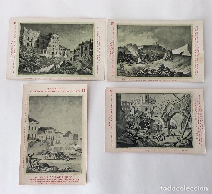 Postales: COLECCIÓN?? 24 POSTALES. CENTENARIO DE LOS SITIOS 1908. LIT. E. PORTABELLA. ZARAGOZA. - Foto 6 - 72728515