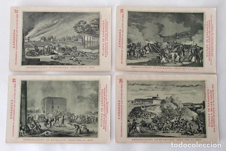 Postales: COLECCIÓN?? 24 POSTALES. CENTENARIO DE LOS SITIOS 1908. LIT. E. PORTABELLA. ZARAGOZA. - Foto 10 - 72728515