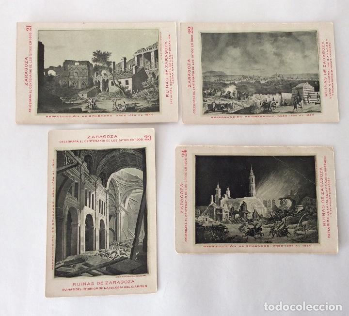 Postales: COLECCIÓN?? 24 POSTALES. CENTENARIO DE LOS SITIOS 1908. LIT. E. PORTABELLA. ZARAGOZA. - Foto 12 - 72728515