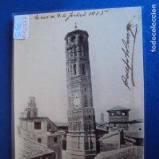 Postales: (PS-50877)POSTAL DE ZARAGOZA-FOTOTIPIA L.ESCOLA.TORRE NUEVA(DERRIBADA). Lote 72739211