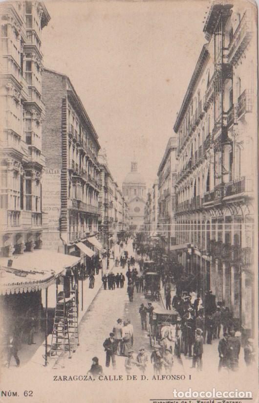 ZARAGOZA - CALLE DE DON ALFONSO I (Postales - España - Aragón Antigua (hasta 1939))