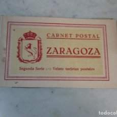 Postales: CURIOSO ÁLBUM - CARNET POSTAL ANTIGUO - BLOCK - 20 POSTALES - ZARAGOZA - SEGUNDA SERIE. Lote 74166363