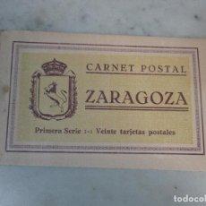 Postales: CURIOSO ÁLBUM - CARNET POSTAL ANTIGUO - BLOCK - 20 POSTALES - ZARAGOZA - PRIMERA SERIE. Lote 74166527