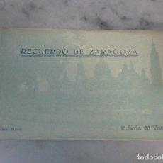 Postales: CURIOSO ÁLBUM POSTAL ANTIGUO - BLOCK - 20 POSTALES - RECUERDO DE ZARAGOZA - PRIMERA SERIE - F. MESAS. Lote 74166843