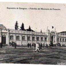 Postales: PS7286 ZARAGOZA 'EXPOSICIÓN. PABELLÓN DEL MINISTERIO DE FOMENTO'. ESCRITA. AÑOS 20. Lote 74681095