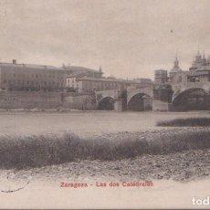 Postales: ZARAGOZA - LAS DOS CATEDRALES. Lote 74757839