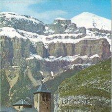 Postales: TORLA, ORDESA (HUESCA), IGLESIA PARROQUIAL Y MONDARRUEGO AL FONDO - ED. SICILIA Nº 70 - SIN CIRCULAR. Lote 74942023