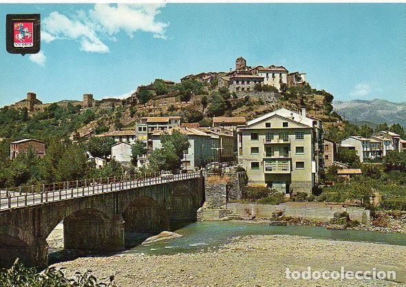 AÍNSA - 3224 VISTA PARCIAL - RÍO ASA (Postales - España - Aragón Moderna (desde 1.940))