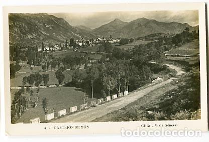 HUESCA CASTEJON DE SOS, CHIA VISTA GENERAL. POSTAL FOTOGRÁFICA, SIN CIRCULAR (Postales - España - Aragón Antigua (hasta 1939))