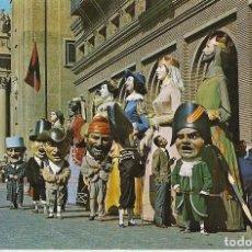 Cartes Postales: ZARAGOZA. COMPARSA GIGANTES Y CABEZUDOS, 1968. Lote 78913393
