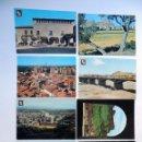 Postales: 8 POSTALES AÑOS 60 - 70 / MONZON / HUESCA / ED. VISTABELLA - ESCUDO DE ORO - PAPELERA OSCENSE. Lote 80584314
