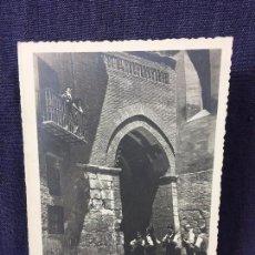 Postales: POSTAL DOBLE BATURROS BALCON PLAZA TERUEL EDICIONES SICILIA ESCRITA 1957 . Lote 80917196