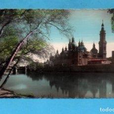 Postales: POSTAL DE ZARAGOZA BASILICA DEL PILAR VISTA GENERAL Nº 56 EDITÓ GARCÍA GARRABELLA ESCRITA AÑO 1958. Lote 81165572