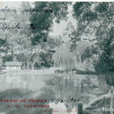 Postales: PS7546 MONASTERIO DE PIEDRA 'PESQUERAS'. M. RAMOS Y COBOS. CIRCULADA. 1906. Lote 82313992
