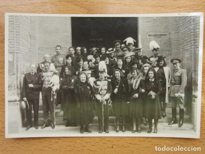 ZARAGOZA. MILITARES, AUTORIDADES. FOTO MARTIN CHIVITE. (Postales - España - Aragón Antigua (hasta 1939))