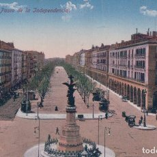 Postales: POSTAL ZARAGOZA - PASEO DE LA INDEPENDENCIA - M ARRIBAS - ARAGON. Lote 83676032