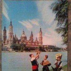 Postales: ZARAGOZA GRUPO REGIONAL. Lote 83689772